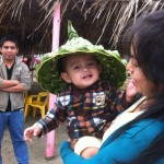 Eleazar bought this hat made of palm leaves on the beach in Tecolutla.  This is Blanca's little guy, Daniel.