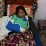 Here's Noemi after she was released from the hospital. :-)
